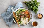 Bún bò Nam Bộ – Vietnamese rice noodle with lemongrass beef